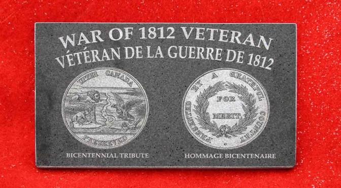 War of 1812 Veteran Plaque
